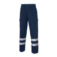 Multi Acol 2b Pantalon Acolchado Bandas Reflectantes Marino