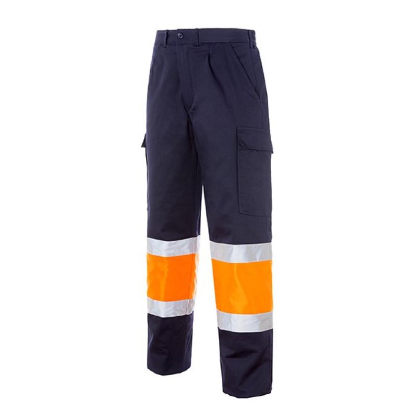 Pantalón Multibolsillos Bicolor Acolchado