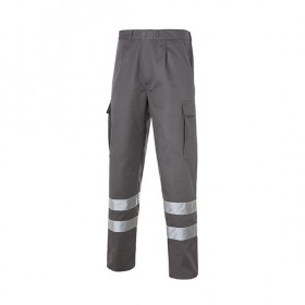 Multi 2b Pantalon Bandas Reflectantes Azulina Gris