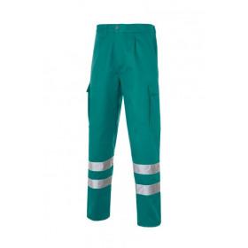 Multi 2b Pantalon Bandas Reflectantes Verde Hoja
