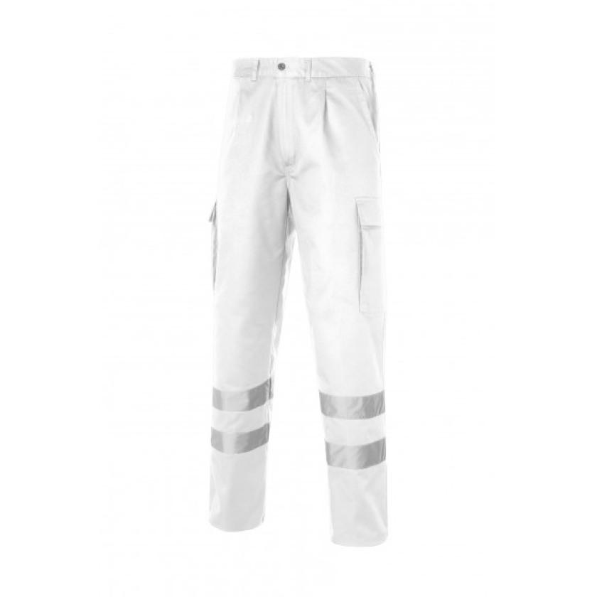 Multi 2b Pantalon Bandas Reflectantes Blanco