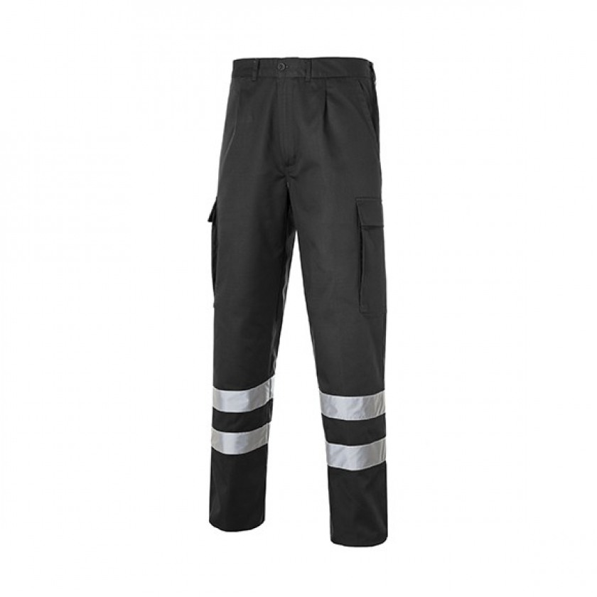 Multi 2b Pantalon Bandas Reflectantes Negro