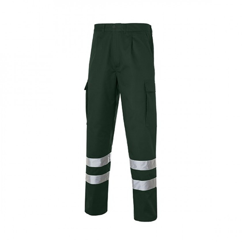 Multi 2b Pantalon Bandas Reflectantes Verde Botella