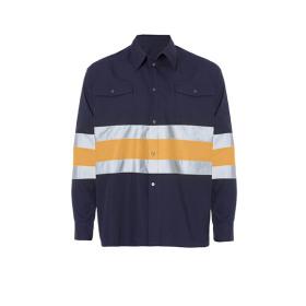 Fiber 2 Camisa Bicolor Marino Naranja Fluor