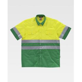 Camisa Bicolor Manga Corta A.V.
