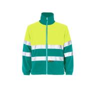 Chaqueta Polar Bicolor Clase Ii Verde Hoja Amarillo Fluor